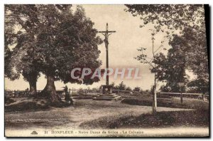 Old Postcard Honfleur Our Lady of Grace Calvary
