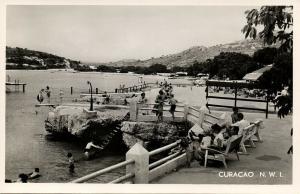 curacao, N.W.I., WILLEMSTAD, Piscadera Bay Beach (1950s) Salas RPPC