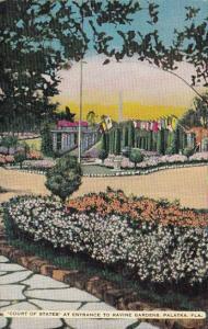 Florida Palatka Court Of States At Entrance To Ravine Gardens