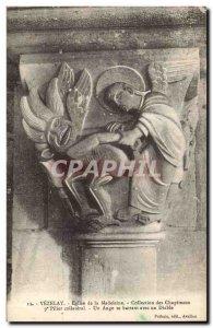 Postcard Old Vezelay Magdalen Church Collection capitals pillar collateral An...