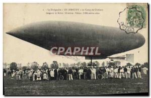 Old Postcard Aviation Zeppelin Airship Lebaudy The Camp of Chalons