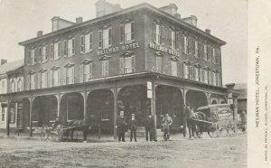 JONESTOWN , Pennsylvania , 1900-1910s ; Street at Heilman Hotel
