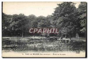 Old Postcard Foret Meudon Etang de Villebon
