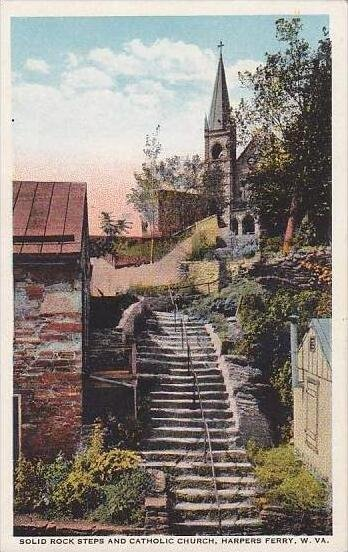 West Virginia Harpers Ferry Solid Rock Steps And Catholic Church