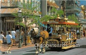 Trolley Ride Down Main Street, USA Walt Disney World, FL, USA Postcard Post C...