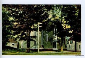 Conway MA Street View Methodist Church Postcard