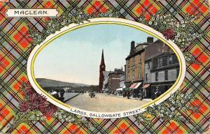 Scotland Largs. Gallowgate Street, MacLean, Tartan Flowers Souvenir 1914