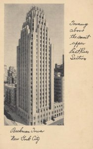 NEW YORK CITY , 1930s , Beekman Tower, Upper East River Section