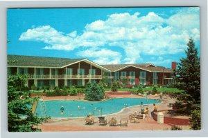 Cheyenne WY- Wyoming, Holdings Little America Hotel, Poolside, Chrome Postcard