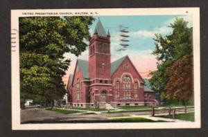 NY United Presbyterian Church WALTON NEW YORK Postcard