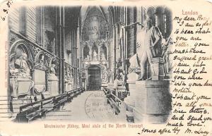 London United Kingdom, Great Britain, England Westminster Abbey, West aisle o...