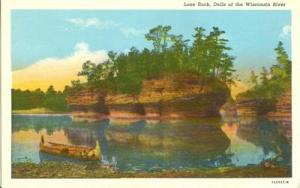 Lone Rock, Dells of the Wisconsin River, 1920s unused Pos...
