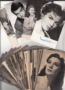 Lot 50 postcards hungarian film stars actresses actors Hungary 1940-1960s