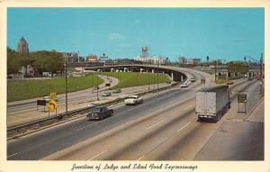 Detroit Michigan~Expressway~Lodge & Edsel Ford Junction~Cars~1965 Pc