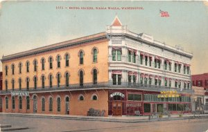 G33/ Walla Walla Washington Postcard c1910 Hotel Dacres Building 3