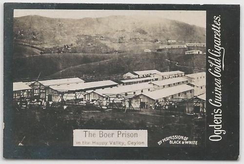 Ogden's Guinea Gold THE BOER PRISON Cigarettes Card. Few small faults