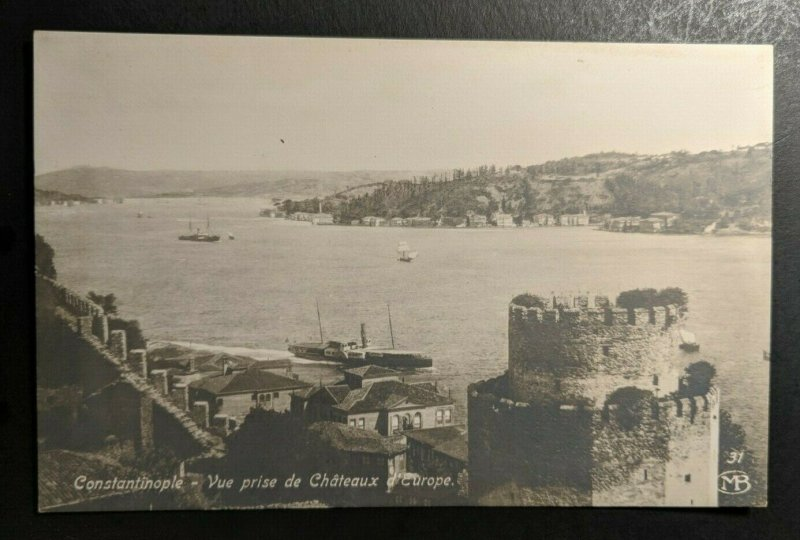 Mint Vintage Istanbul Constantinople Turkey View of Water Real Photo Postcard