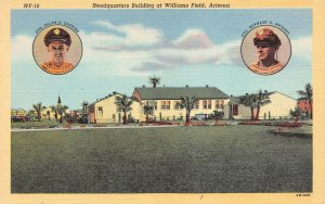 U.S. Air Force Headquarters Bldg. at Williams Field, AZ, W.W. II Era Postcard