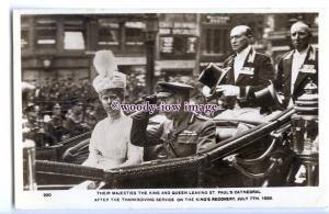 r3043 - King George & Queen at St.Paul's after the King's Recovery - postcard