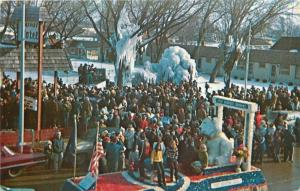 Port Austin Michigan~Snoopy in Float @ Winter Festival Parade~Snow Cover~1960s