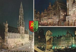 Brussels, Belgium, multiview postcard, c. 1990s