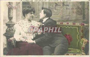 Postcard Old Sweet About Tell me you'll Love Always Woman Couple