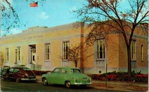 Vtg Postcard 1950s Plastichrome United States Post Office Royal Oak, MI Unused