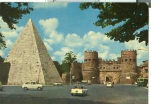 Italy Rome, Poarta S. Paolo e Piramide Cestia, with Fiat ...