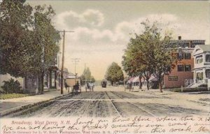 New Hampshire West Derry Broadway 1908