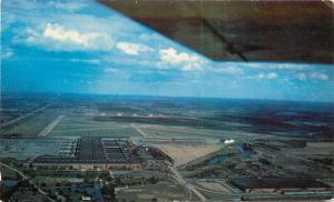 Detroit Michigan~Willow Run Airport~Kaiser Frazer Plant~Plane Wing~1950s PC