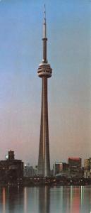 Vintage Panorama Style, CN Tower, Toronto, Canada Postcard, 205x89mm OS130