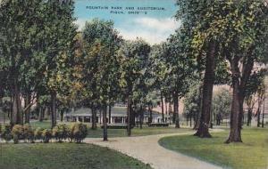 Ohio Piqua Fountain Park And Auditorium 1940