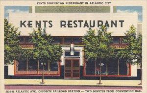 Kents Restaurant Downtown Atlantic Avenue Atlantic City New Jersey 1950