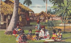 Seminole Indian Family Group , Florida , 30-40s