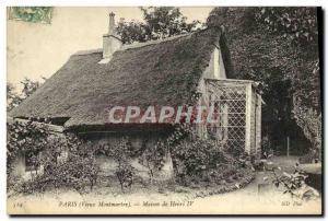 Old Postcard Paris House Henry Montmartre