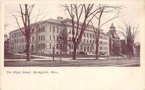 Massachusetts  Springfield,   The High School, Johnson's Bookstore ...