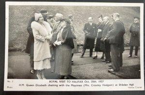 Mint Picture Postcard Queen Elizabeth & King George VI Royal Visit To Halifax 37