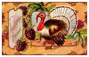 1106  Thanksgiving  Turkey, Grapes