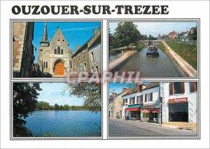 Postcard Modern Ouzouer on Trezee (Loiret) Church Saint Martin Canal Bian l'E...
