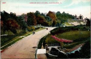 Ambler Boulevard c1909 Cleveland Ohio Vintage Postcard M08