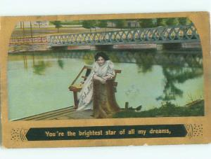 Divided-Back PRETTY WOMAN Risque Interest Postcard AA7854