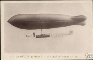 Zeppelin, Airship Clément Bayard (ca. 1910) RPPC