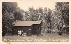 Des Moines IA (YWCA) Girls Relax @ Y-Camp~Little Brown Cabin RPPC 1959