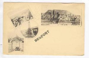 Belfort, France, 4-view postcard, Pre 1905