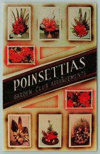 Lower Rio Grande Valley Texas~Poinsettias Garden Club Arrangements~Flowers~1950s