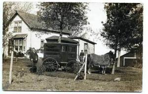 Garner IA Rawleigh Wagon Salesman Super Clear Fritsch RPPC Postcard
