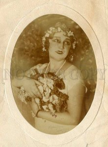 130684 BRANZBURG Actress Vintage REAL PHOTO 1926 year