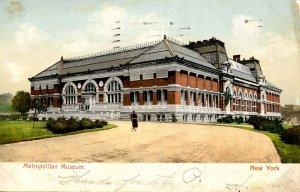 NY - New York City. Metropolitan Museum    (worn card)