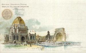 Administration building World's Columbian Expostion Old Vintage Antique Postc...