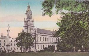 Iowa Ames St Mary-of-the-Woods College Conventual Church Handcolored Albertype